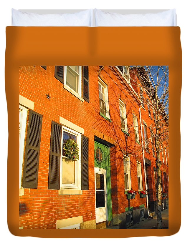 Cityscape Duvet Cover featuring the photograph Old Charestown Neighborhood by Barbara McDevitt