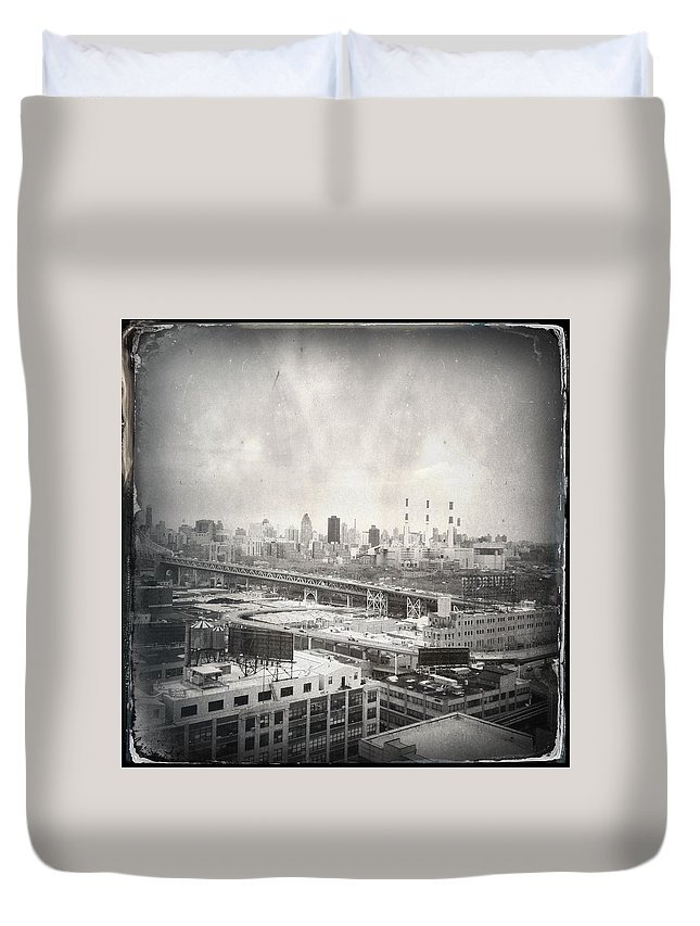 Nyc Duvet Cover featuring the photograph Old City 2 by H James Hoff