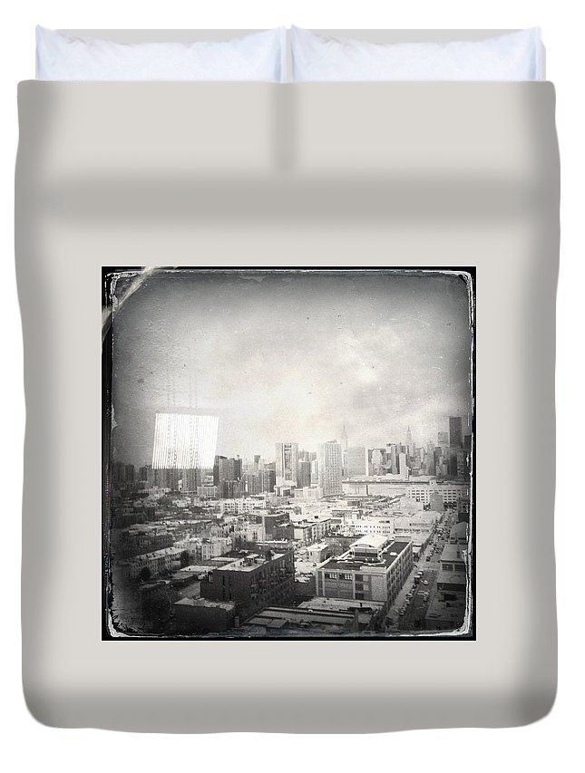 Nyc Duvet Cover featuring the photograph Old City by H James Hoff
