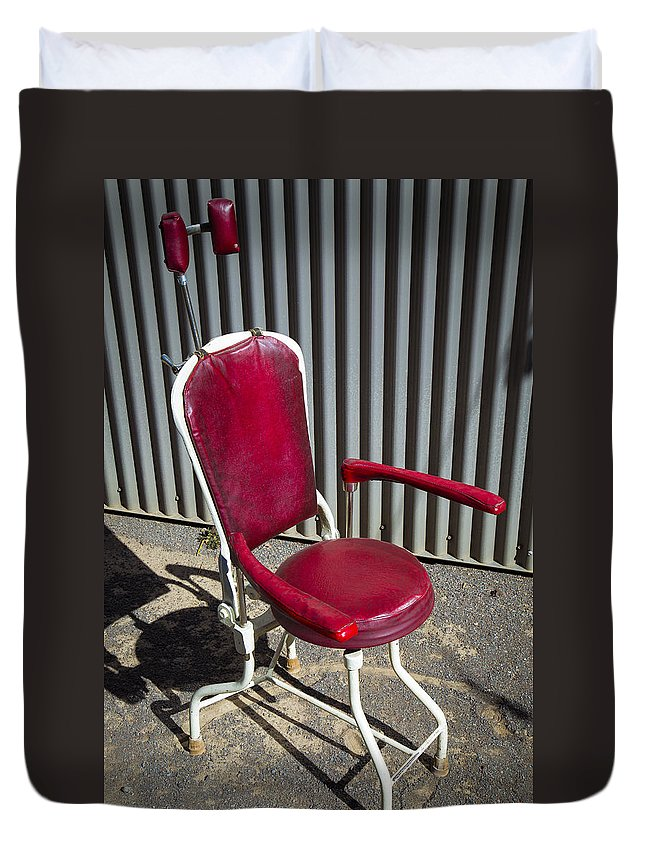 Old Dentist Duvet Cover featuring the photograph Old Dentist Chair by Garry Gay