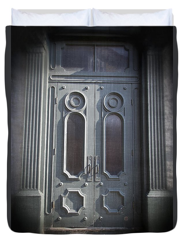 2013 Duvet Cover featuring the photograph Old Doorway Quebec City by Edward Fielding
