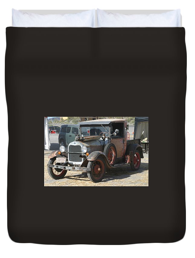 Ford Duvet Cover featuring the photograph Old Ford by Steve Scheunemann