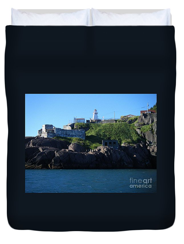 Old Fort Amherst Duvet Cover featuring the photograph Old Fort Amherst By Barbara Griffin by Barbara Griffin