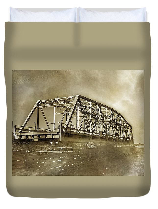 Topsail Duvet Cover featuring the photograph Old Friend by Betsy Knapp