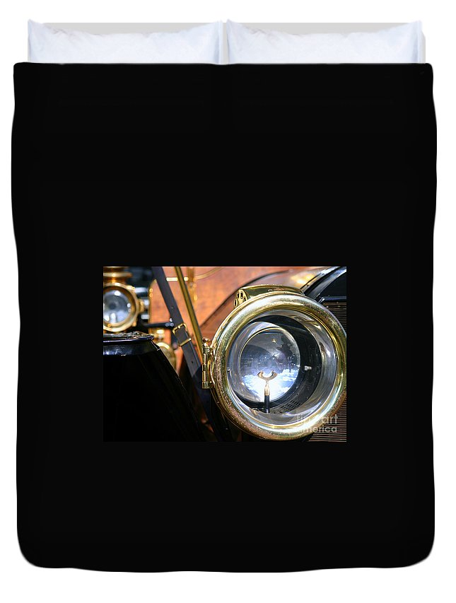 Old Duvet Cover featuring the photograph Old Headlights by Henrik Lehnerer