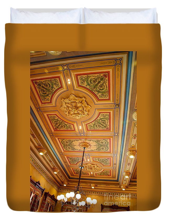 Annapolis Duvet Cover featuring the photograph Old House Of Delegates Room Of The Maryland State House by Mark Dodd