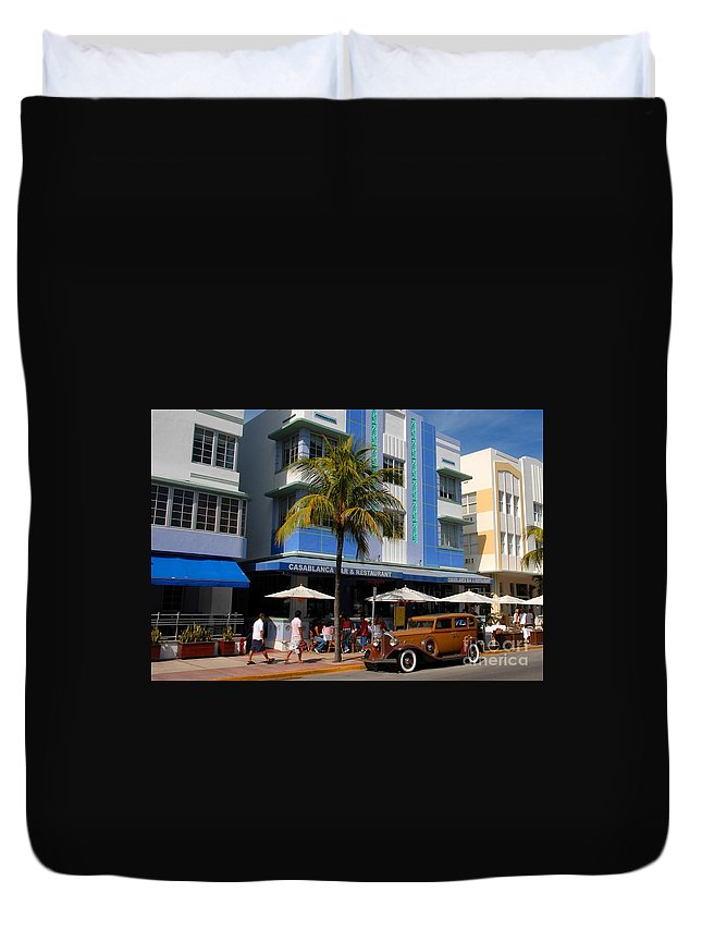 Miami Florida Duvet Cover featuring the photograph Old Miami by David Lee Thompson