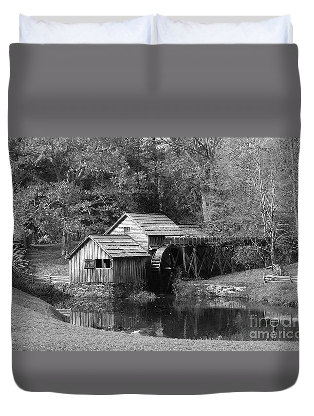 Virginia Duvet Cover featuring the photograph Virginia's Old Mill by Eric Liller