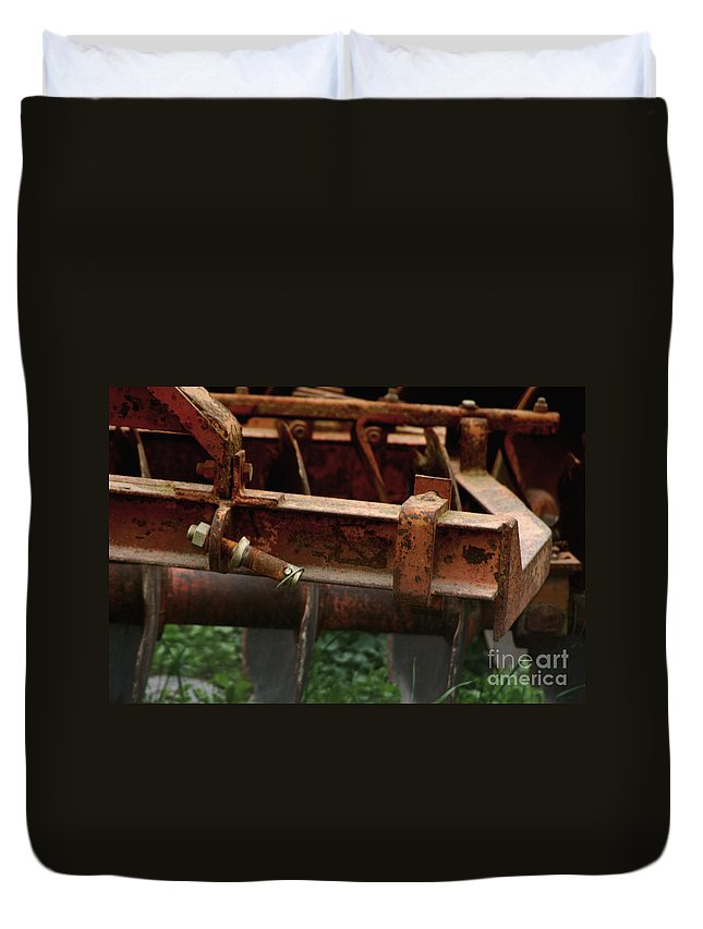 Tractor Duvet Cover featuring the photograph Old Mowing Machine by Doc Braham