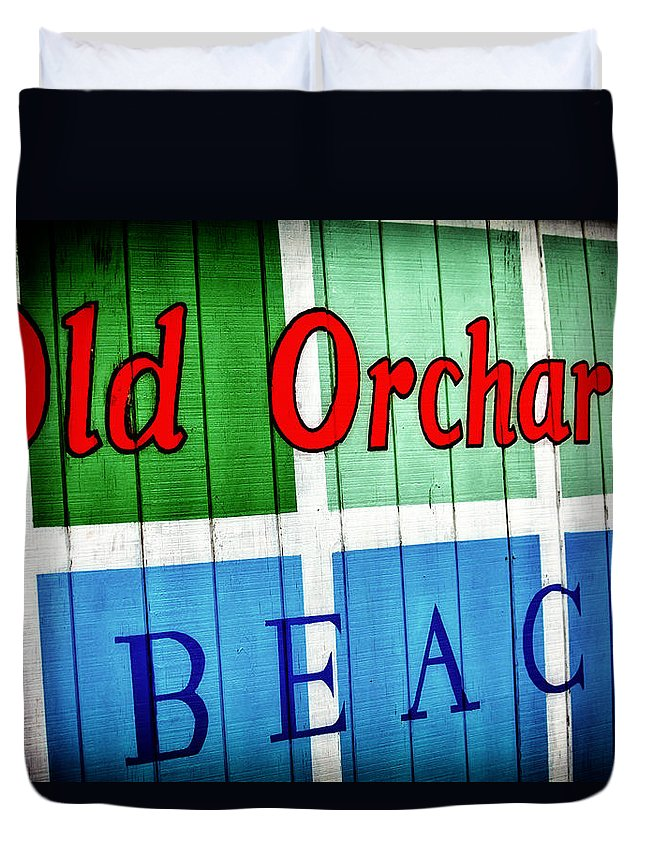 Old Orchard Duvet Cover featuring the photograph Old Orchard Beach by Karol Livote