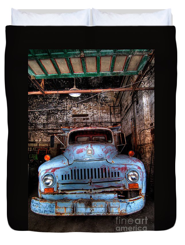Antique Duvet Cover featuring the photograph Old Pickup Truck Hdr by Amy Cicconi