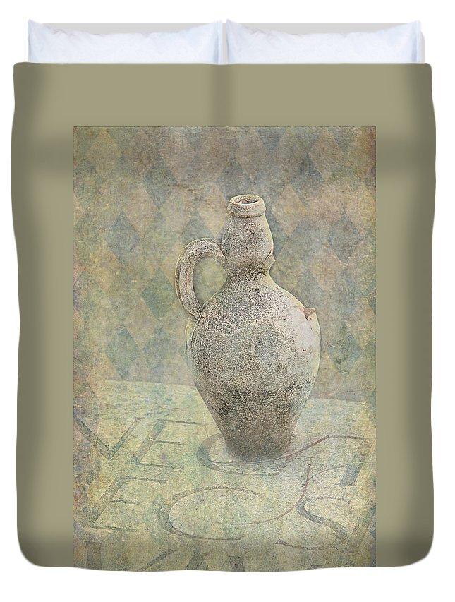 Old Duvet Cover featuring the photograph Old Pitcher Abstract by Garry Gay