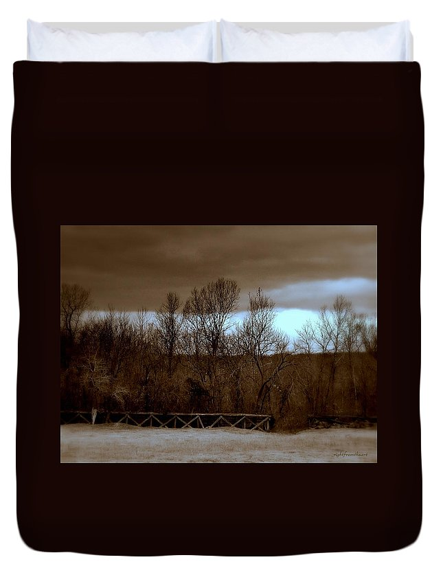 Old Railroad Duvet Cover featuring the photograph Old Railroad by Bob and Kathy Frank