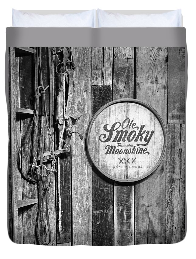 Ole Smoky Moonshine Duvet Cover featuring the photograph Ole Smoky Moonshine by Dan Sproul