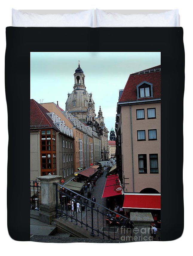 Alley Duvet Cover featuring the photograph Old Town Dresden by Christiane Schulze Art And Photography
