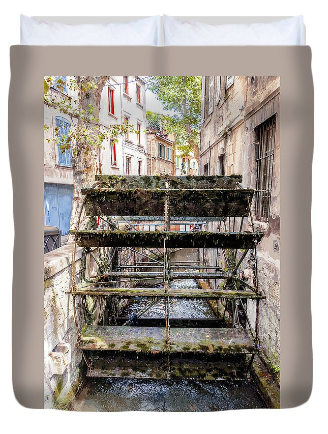 Water Mill Duvet Cover featuring the painting Old Town Mill by Yevgeni Kacnelson