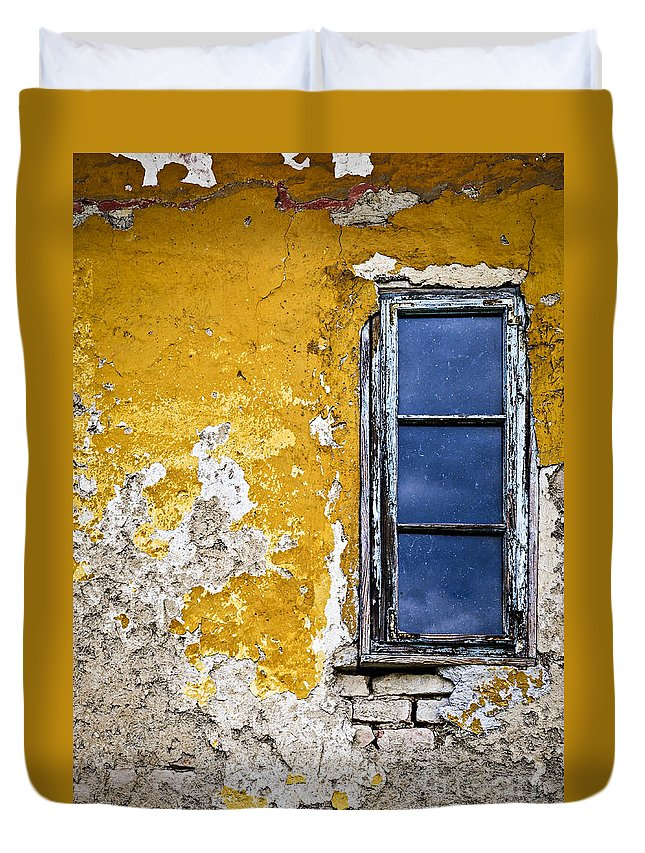 Wall Duvet Cover featuring the photograph Old Wall In Serbia by Elena Elisseeva
