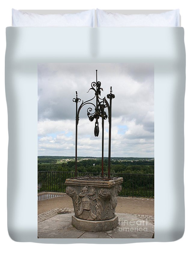 Well Duvet Cover featuring the photograph Old Well Chateau Chaumont by Christiane Schulze Art And Photography