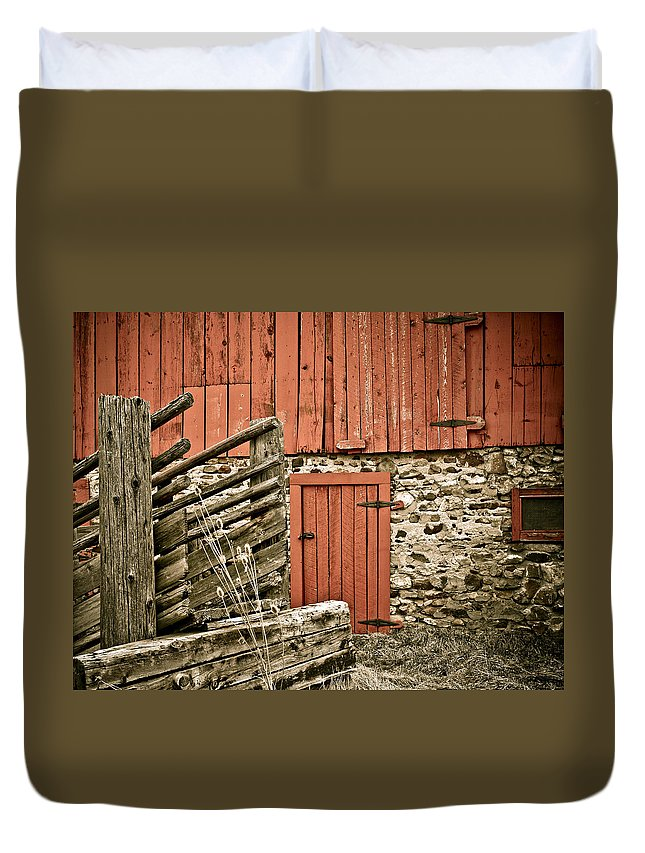 Old Duvet Cover featuring the photograph Old Wood by Marilyn Hunt