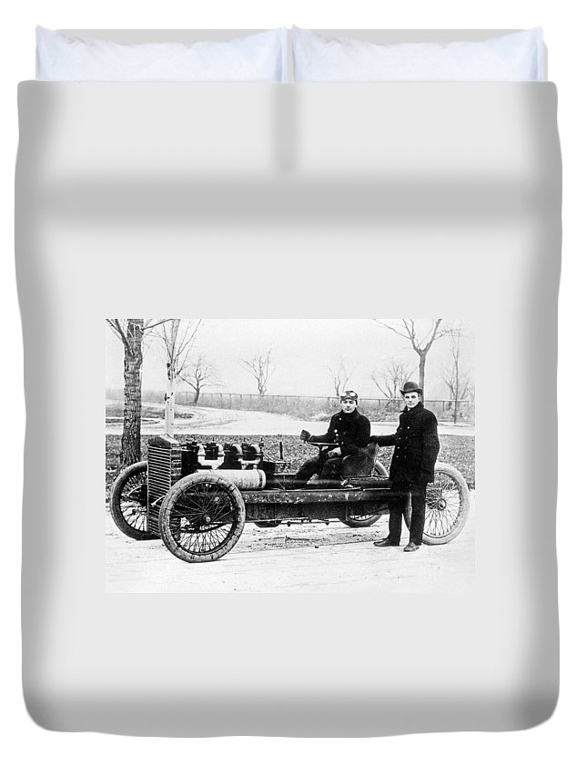 1902 Duvet Cover featuring the photograph Oldfield & Ford, 1902 by Granger