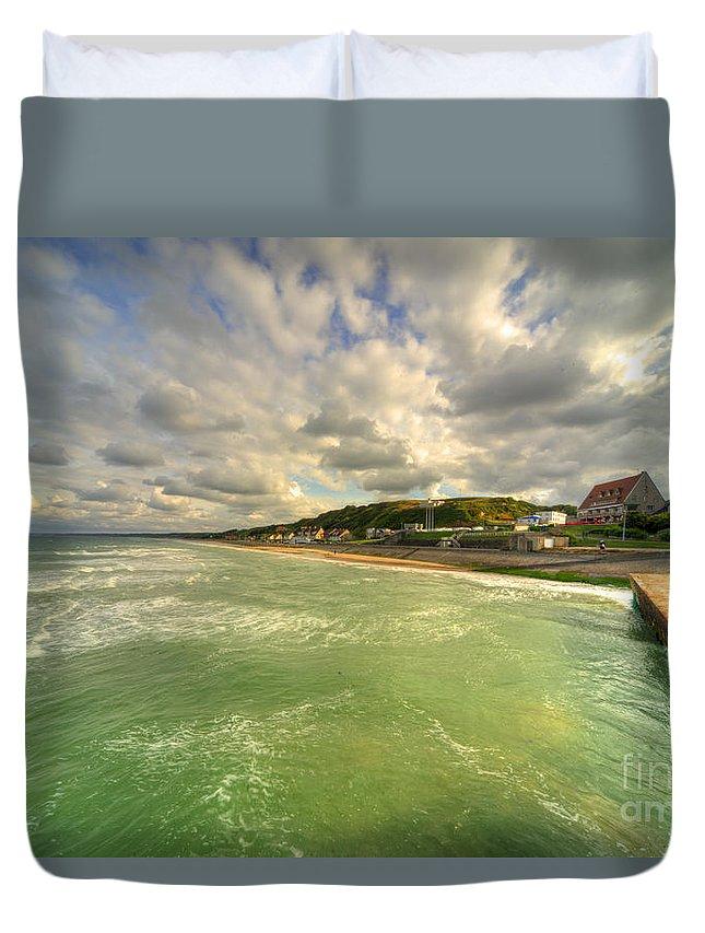 Omaha Duvet Cover featuring the photograph Omaha Beach by Rob Hawkins