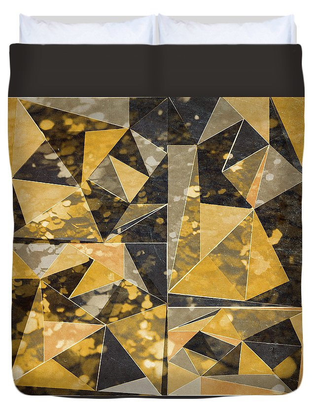Omg Duvet Cover featuring the digital art Omg Modern Triangles II by south Social Studio