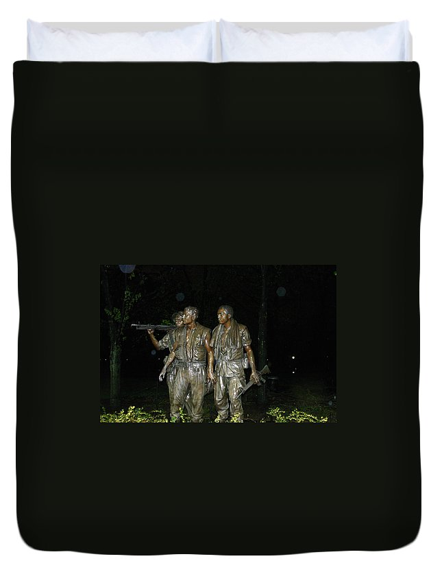War Duvet Cover featuring the photograph On Patrol by Hugh Carino