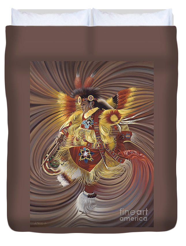 Sacred Duvet Cover featuring the painting On Sacred Ground Series 4 by Ricardo Chavez-Mendez