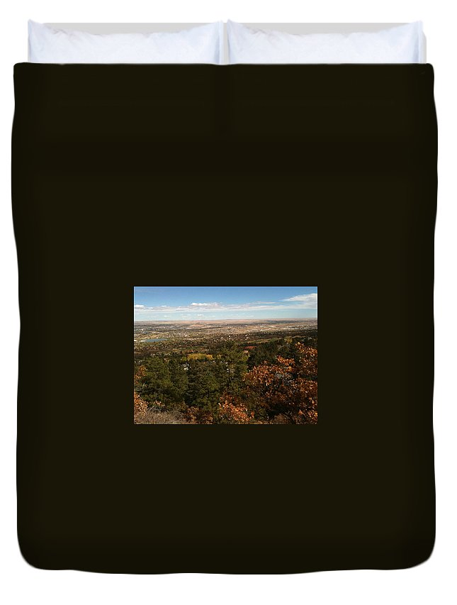 Pikes Peak Duvet Cover featuring the photograph On The Path To The Summit by Gina Bonelli