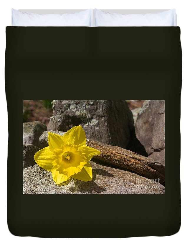 Rock Duvet Cover featuring the photograph On The Rocks by Ray Konopaske