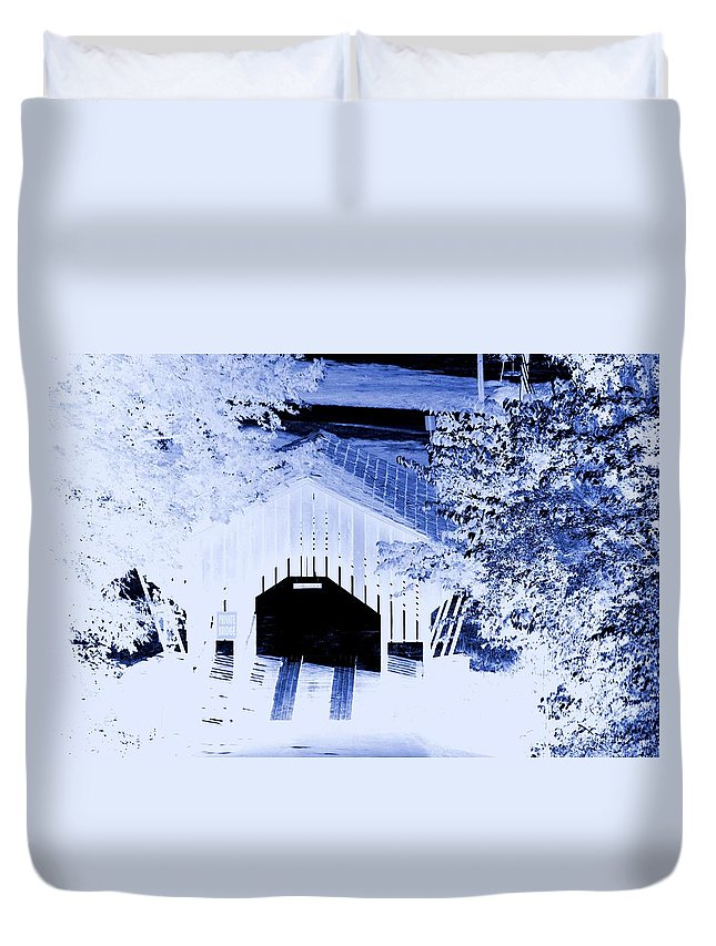 Once Upon A Winter's Eve Duvet Cover featuring the digital art Once Upon A Winter's Eve by Maria Urso