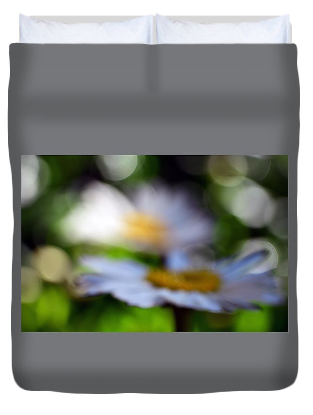 Daisy Duvet Cover featuring the photograph One Glass Of Wine Too Many by Lori Tambakis