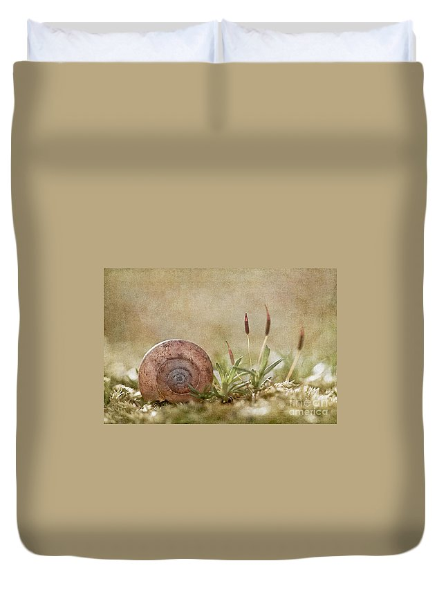 Moss Duvet Cover featuring the photograph One Moment In Time by Maria Ismanah Schulze-Vorberg