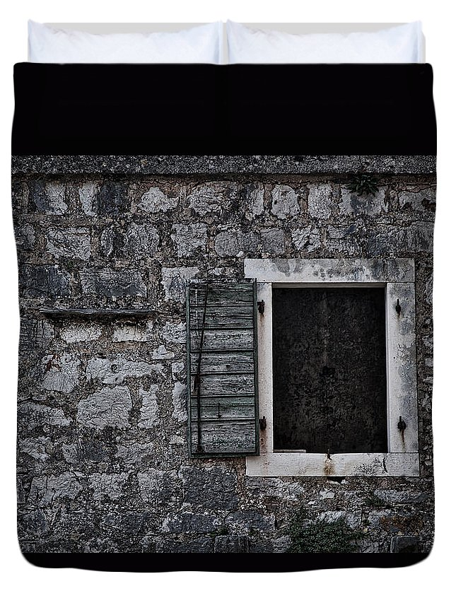 Wall Duvet Cover featuring the photograph One Shutter by Stuart Litoff