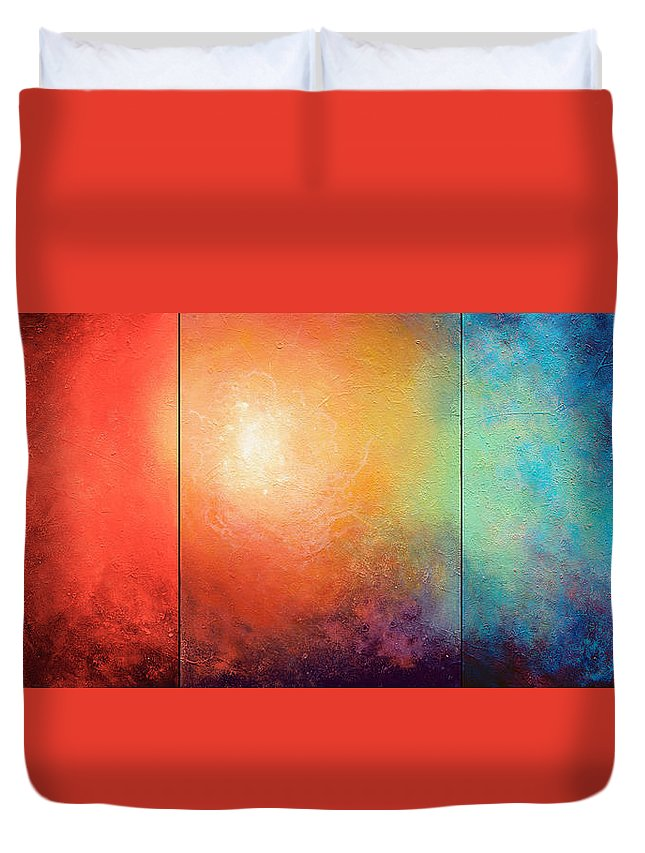Abstract Duvet Cover featuring the painting One Verse by Jaison Cianelli