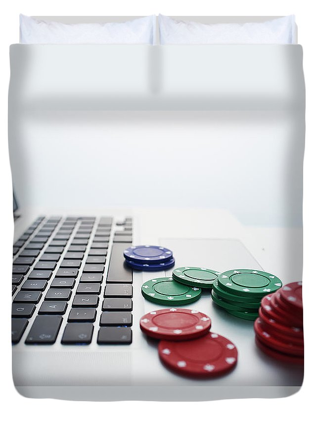 Internet Duvet Cover featuring the photograph Online Gambling by John Lamb