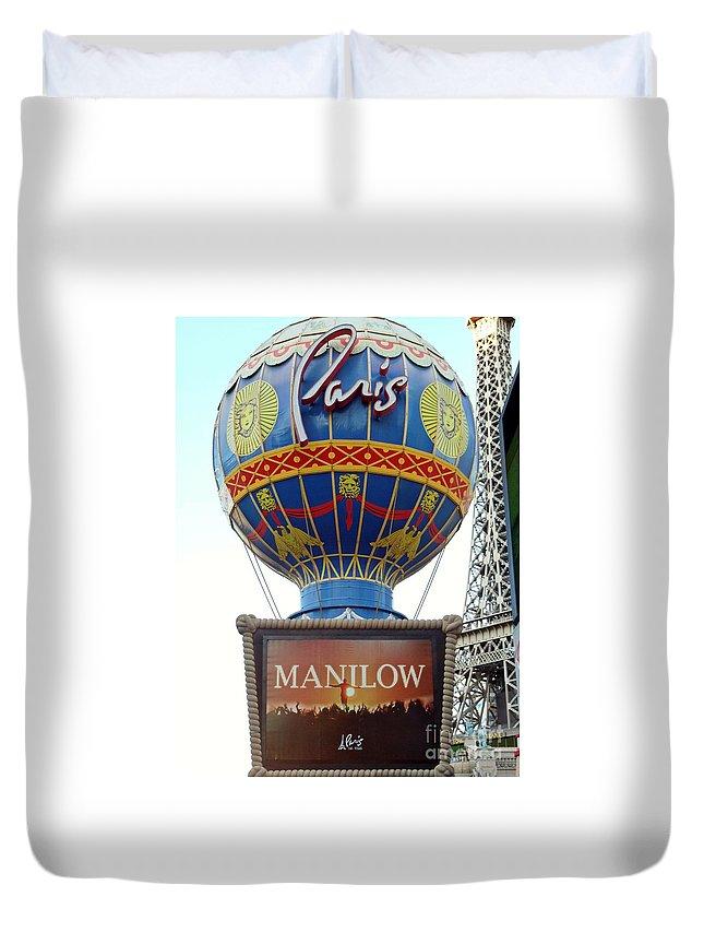 Paris Las Vegas Duvet Cover featuring the photograph Only In Vegas by Jennifer Boisvert