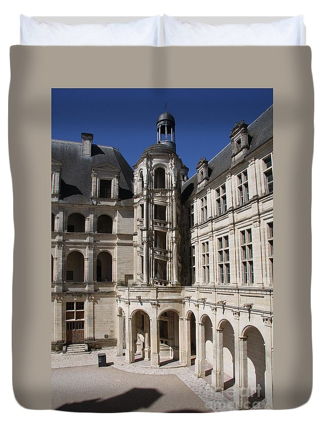 Palace Duvet Cover featuring the photograph Open Staircase Chateau Chambord - France by Christiane Schulze Art And Photography