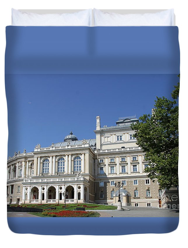 Ugendstil House Duvet Cover featuring the photograph Opera And Ballet Theater Odessa by Christiane Schulze Art And Photography