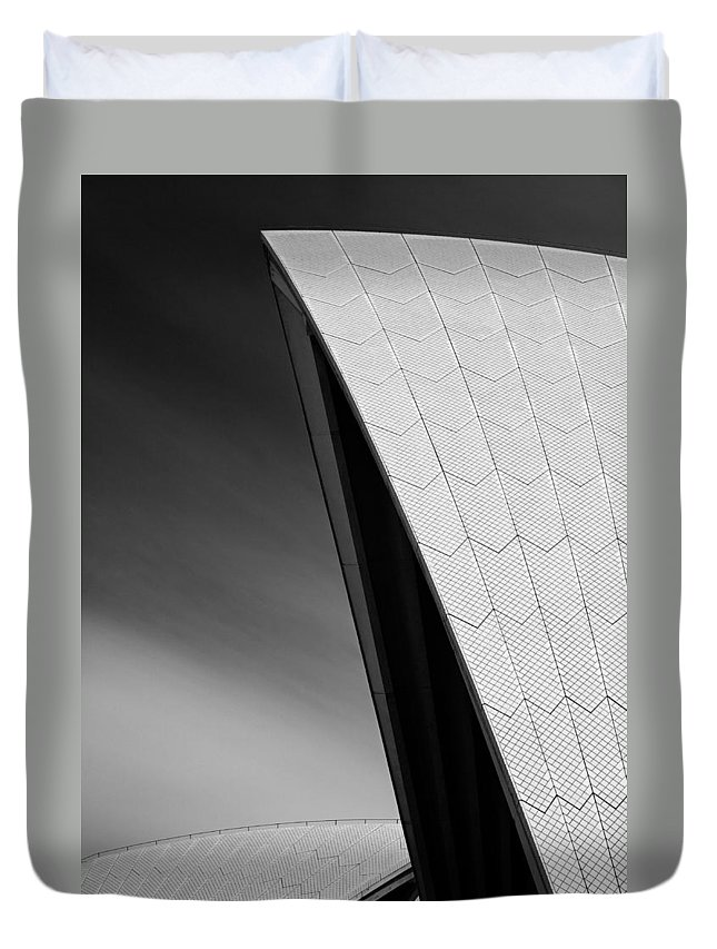 Sydney Opera House Duvet Cover featuring the photograph Opera House by Dave Bowman