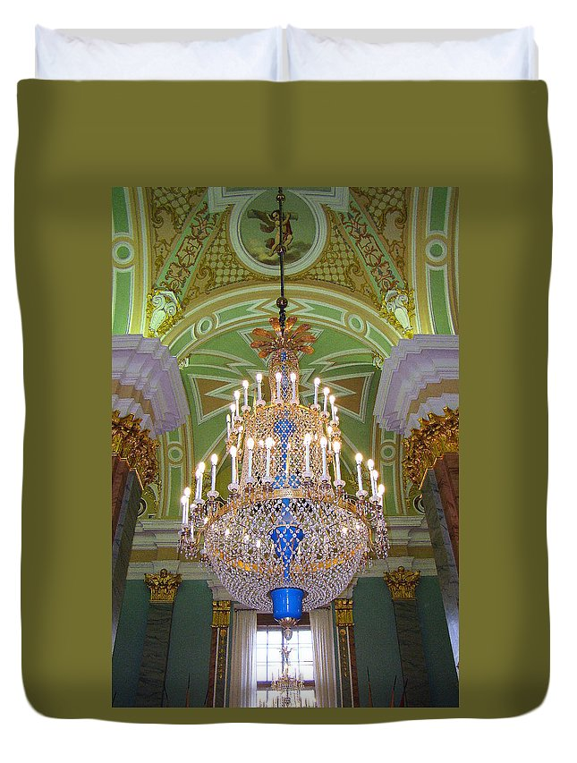 St. Catherine's Palace Duvet Cover featuring the photograph The Beauty Of St. Catherine's Palace by Richard Rosenshein