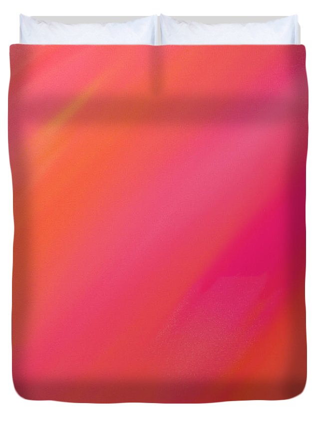 Andee Design Abstract Duvet Cover featuring the digital art Orange And Raspberry Sorbet Abstract 1 by Andee Design