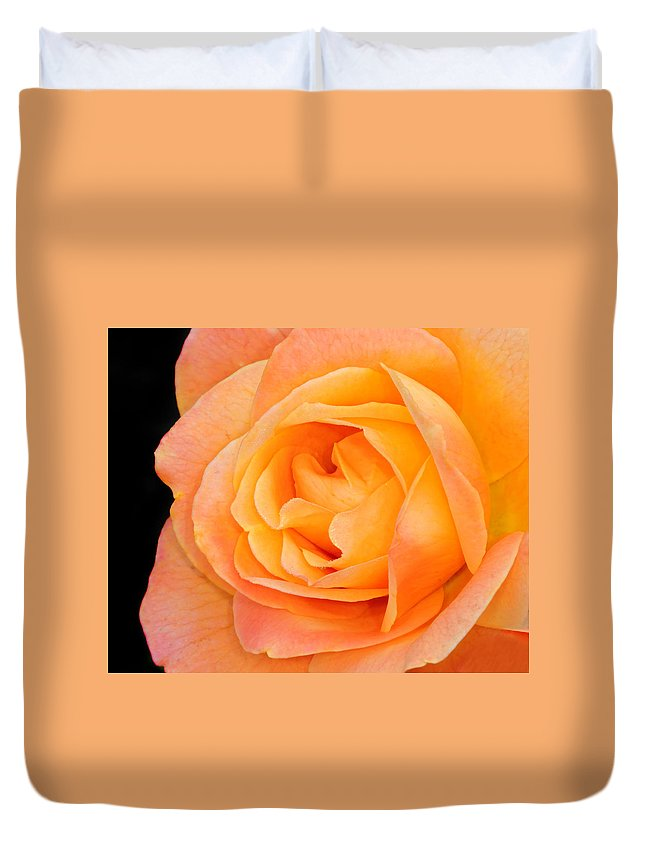 Rose Duvet Cover featuring the photograph Orange Delight by Dave Mills