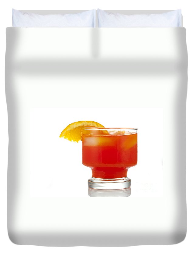 Beverage Duvet Cover featuring the photograph Orange Drink by Juli Scalzi