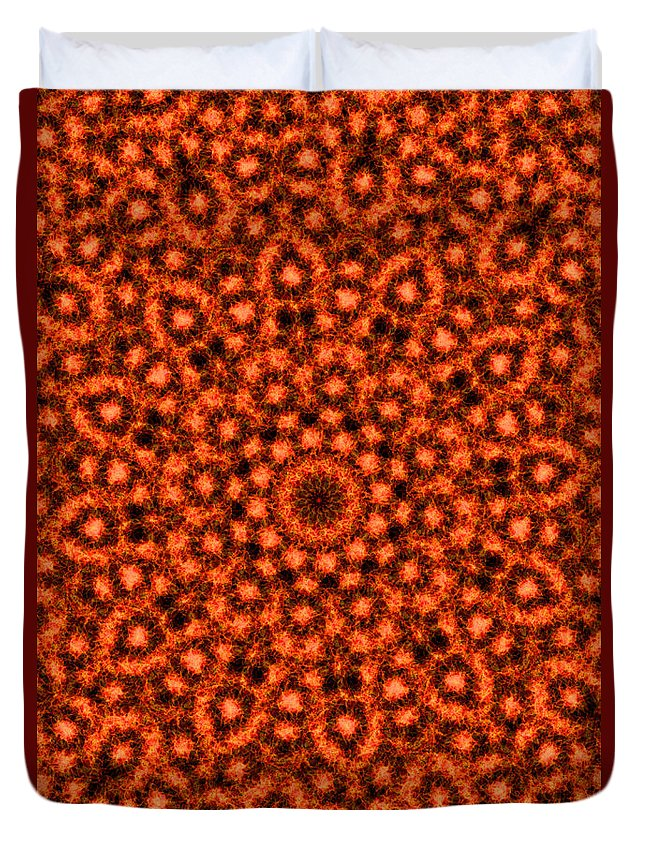 Fire Duvet Cover featuring the photograph Orange Floral Abstract by Image World