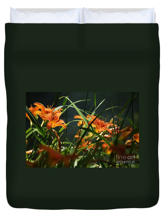 Orange Duvet Cover featuring the photograph Orange Natural Beauty...  # by Rob Luzier
