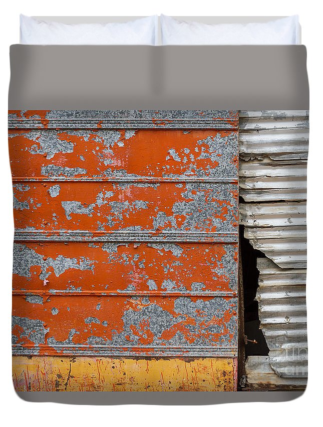 Texas Duvet Cover featuring the photograph Orange Paint by Ashley M Conger