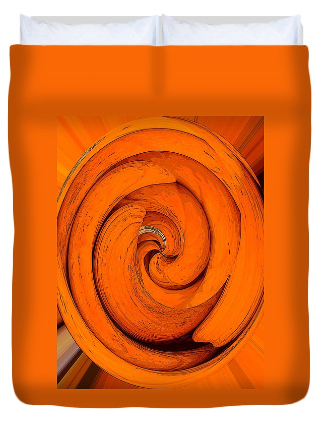 Orange Peal Duvet Cover featuring the painting Orange Peal by David Lee Thompson