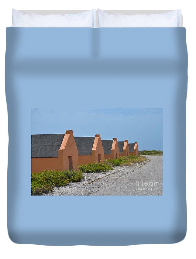 Bonaire Duvet Cover featuring the photograph Orange Slave by Photos By Cassandra