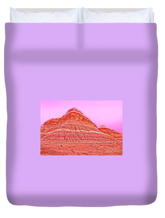 Orange Duvet Cover featuring the photograph Orange Slice Mountain by Bob and Nadine Johnston